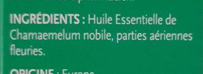 Huile Essentielle de Camomille Romaine - Ingrediënten - fr