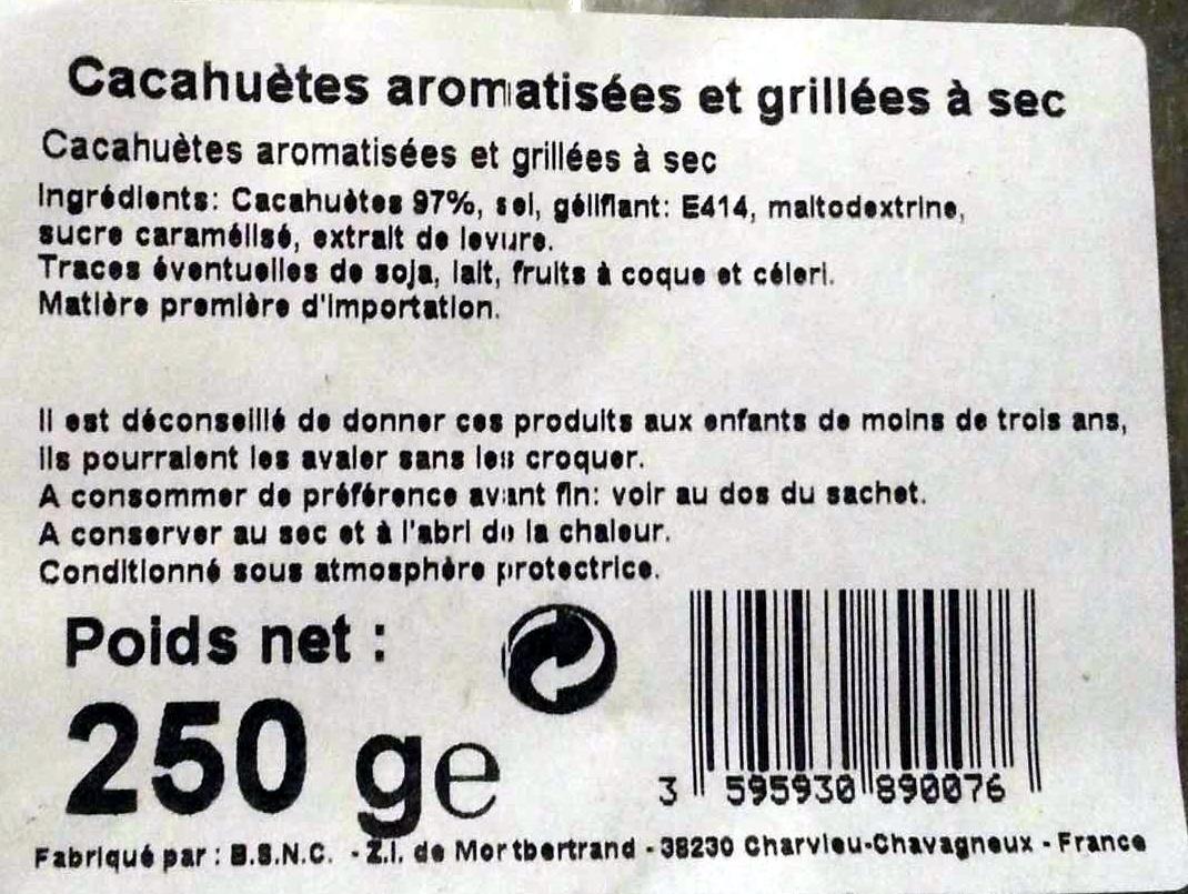 Cacahuètes aromatisées et grillées à sec - Product