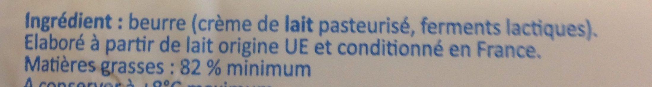 Beurre doux le moulé - Ingredients - fr