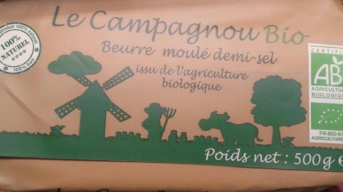 Le Campagnou Bio Beurre Moulé Demi-Sel - Produit - fr