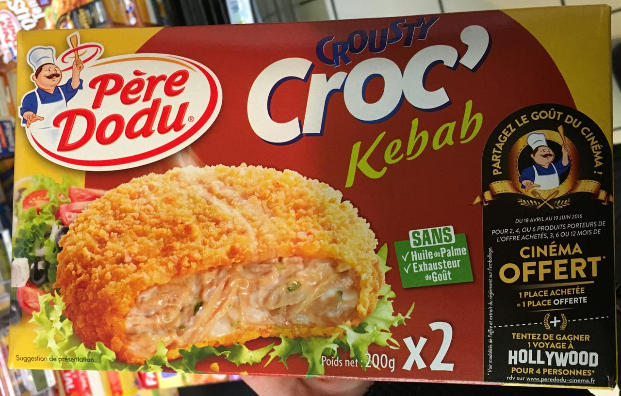 Crousti Croc' Kebab (x 2) - Produit