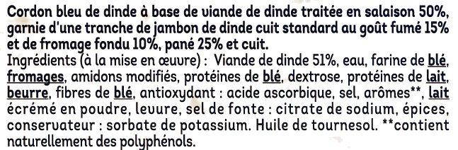 Cordon bleu de dinde - Ingredienti - fr