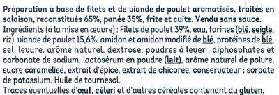 Nuggets aux filets de poulet - Ingrédients - fr