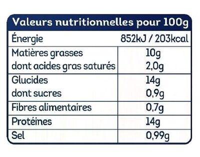 Nuggets aux filets de poulet - Informations nutritionnelles - fr