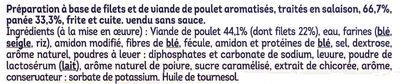 Nuggets de Poulet - Ingredienti - fr