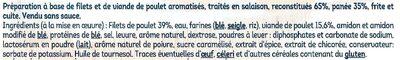 L'original nuggets aux filets de poulet - Ingrédients - fr