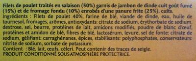 Escalope Cordon Bleu de Poulet (x 1) - Ingrédients