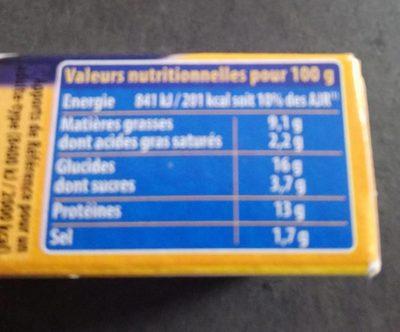 Escalope Cordon Bleu de Poulet (x 1) - Informations nutritionnelles