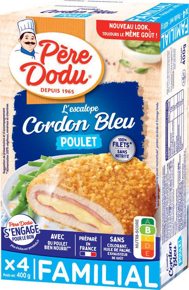 Escalope cordon bleu de poulet 100% filets - Product - fr