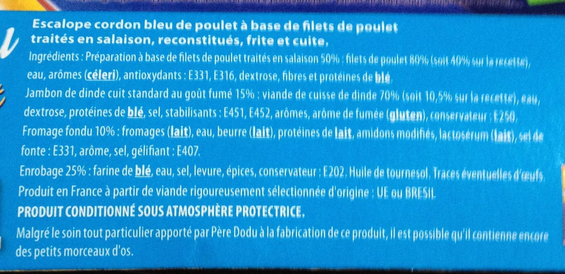 Cordon bleu poulet père dodu x4 - Ingrédients
