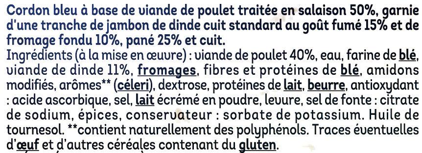 Cordon bleu de poulet - Ingredienti - fr