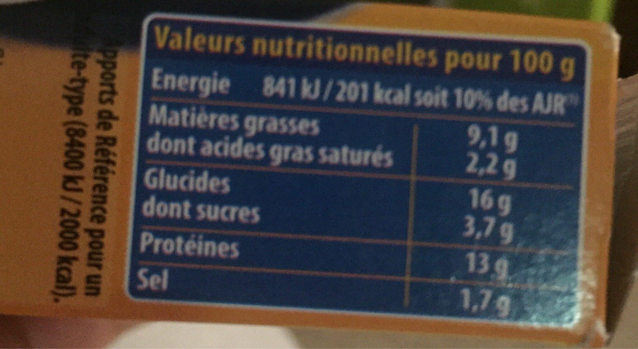 Cordon bleu - Nutrition facts - fr