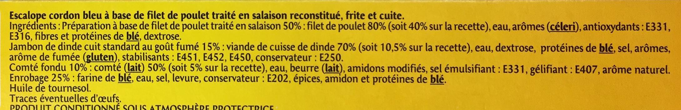 Cordon Bleu au Comté fondu (x 2) - Ingrédients