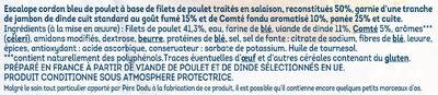 Escalope cordon bleu au comte fondu - Ingredients - fr