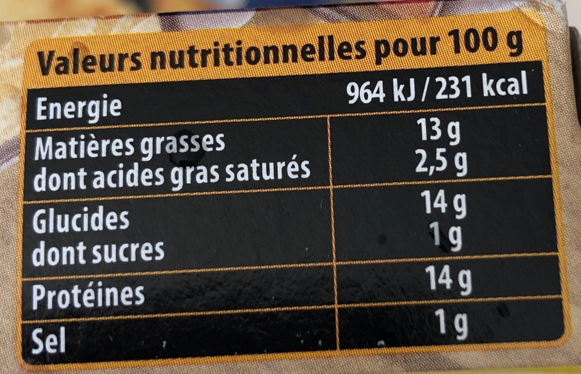 Long nuggets aux filets de poulet - Nutrition facts - fr