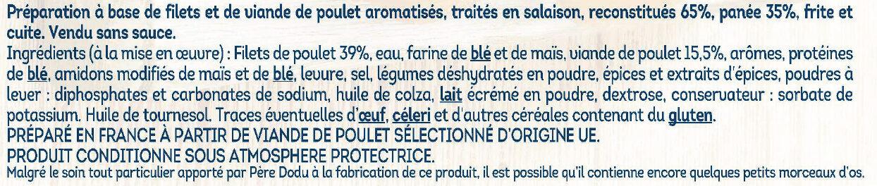 Nuggets de poulet -25% de sel - Ingredienti - fr