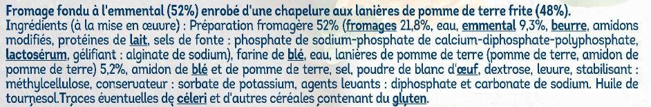 Palet fromager emmental - Ingrédients - fr