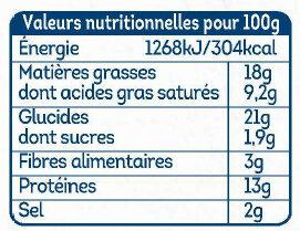 Palet fromager emmental - Informations nutritionnelles - fr