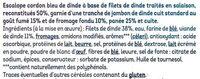 Escalope cordon bleu de dinde 100% filets - Ingredienti - fr