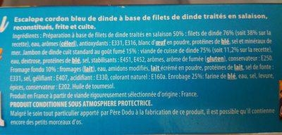 Cordon bleu dinde - Ingredients