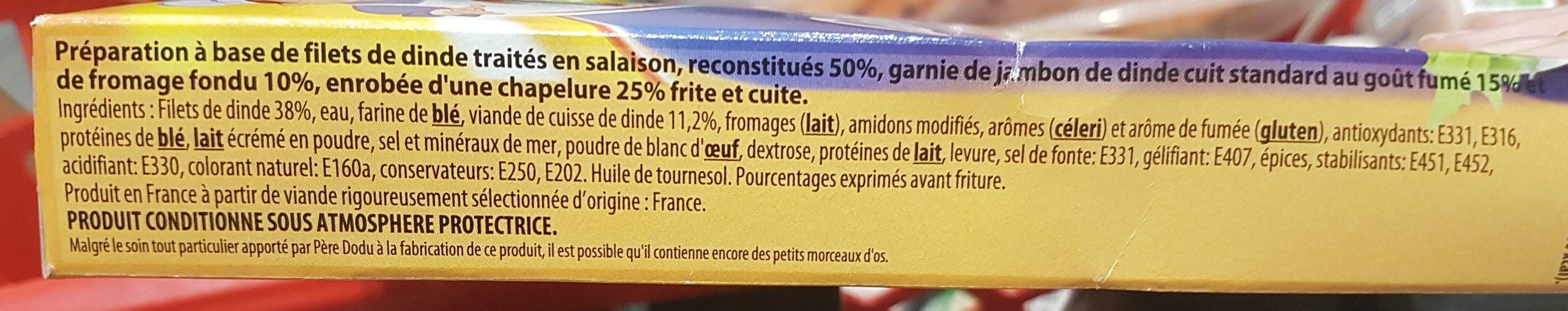 Cordon bleu de dinde - Ingrédients