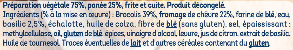 Pané Brocolis Chèvre - Ingredienti - fr