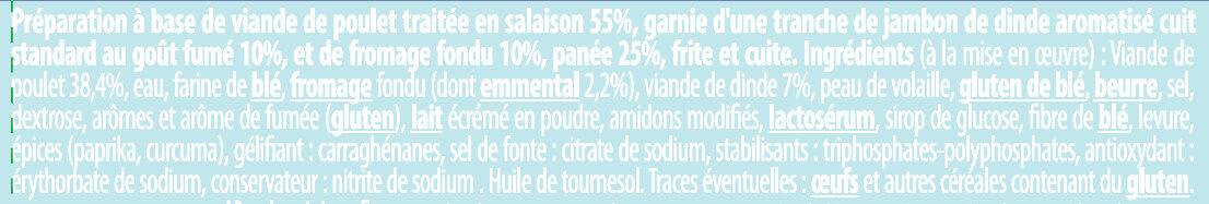 Cordon Bleu à l'emmental fondu - Ingredienti - fr