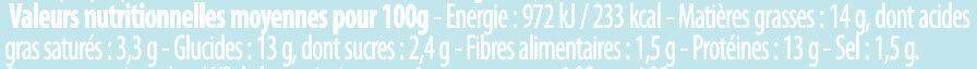 Cordon Bleu à l'emmental fondu - Valori nutrizionali - fr