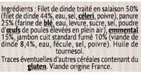 Escalope Cordon Bleu de qualité supérieure - Ingredienti - fr