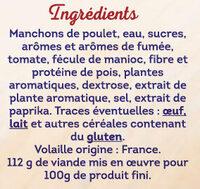 Wings de poulet roties barbecue eleves sans traitement antibiotique - Ingredienti - fr