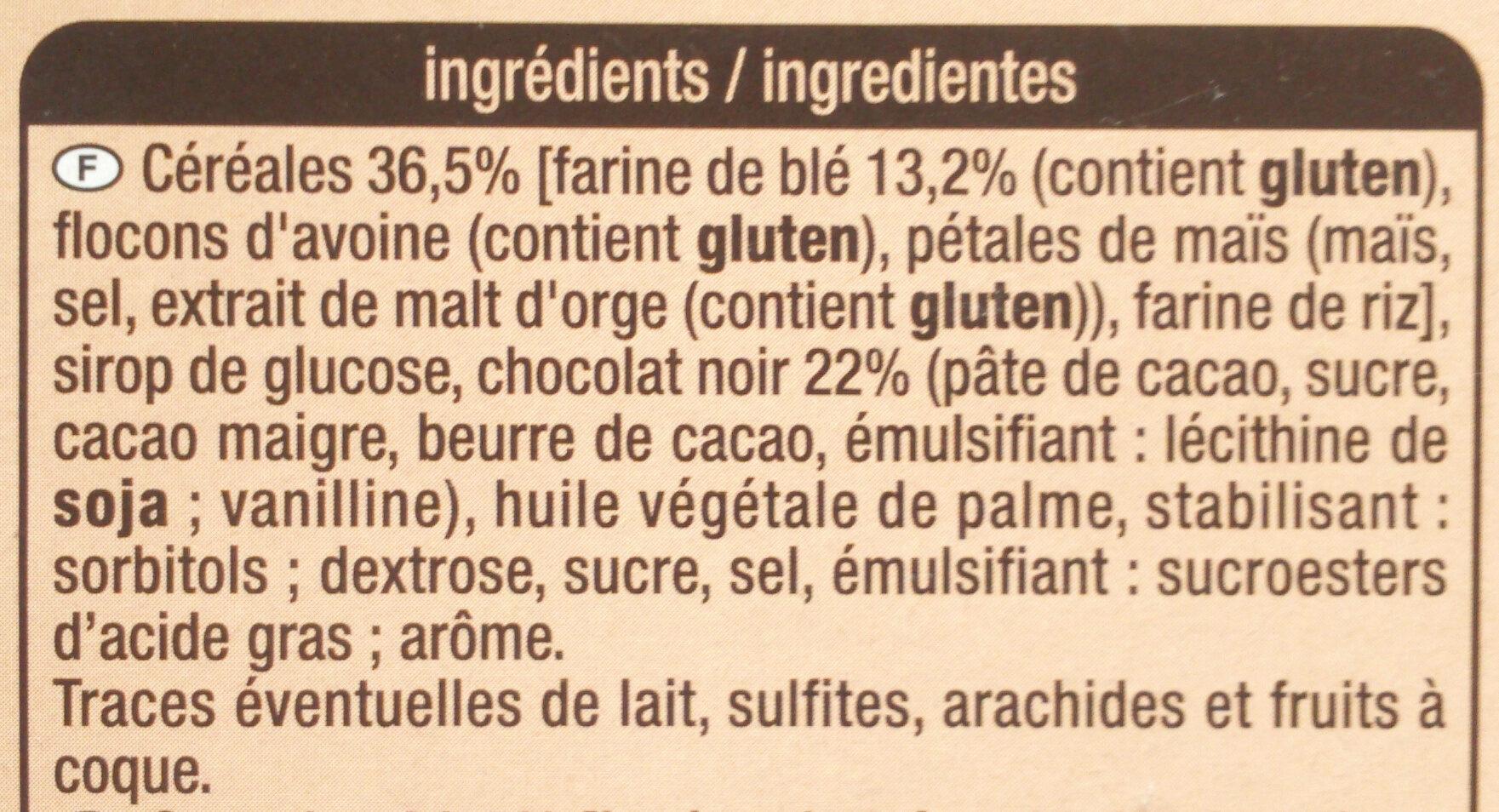 Crousty - Chocolat noir - Ingrédients