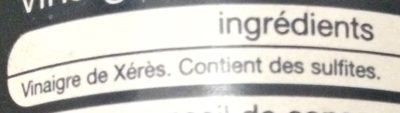 Auchan Vinaigre De Xerès - Ingredients
