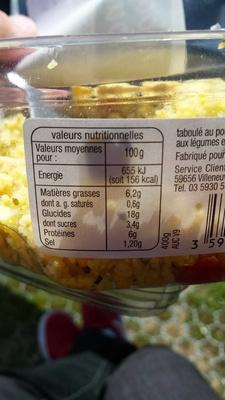 Taboulé poulet - Product
