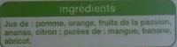 Jus multifruits - Ingrédients - fr