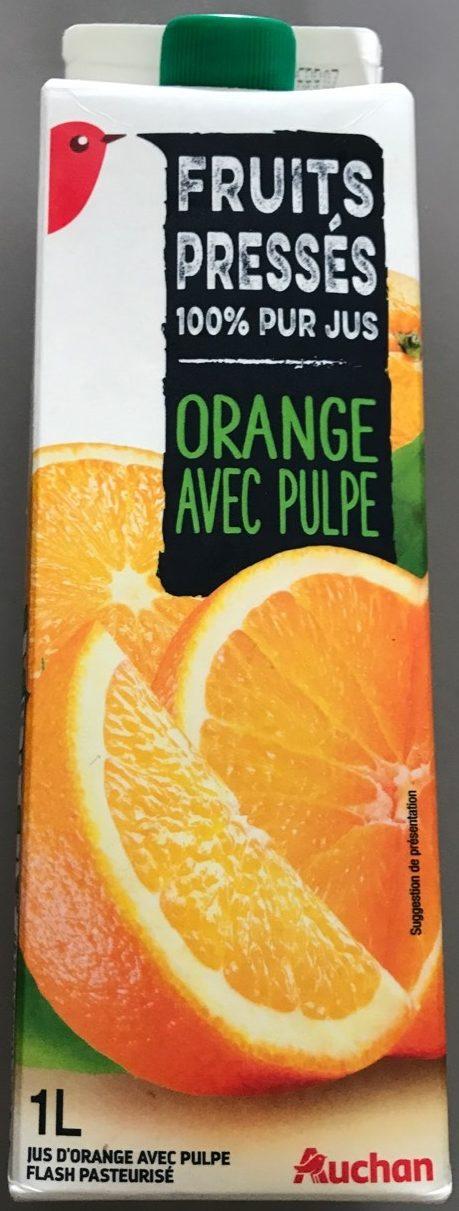 100 % Pur Jus Orange pressée (Avec Pulpe) - Product - fr