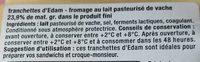 Tranchettes Edam tendres - Ingrédients - fr