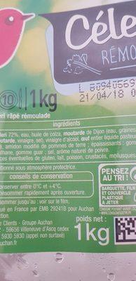 Céleri Rémoulade - Ingredients