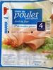 Blanc de poulet qualité supérieure doré au four (4 Tranches) - Produit
