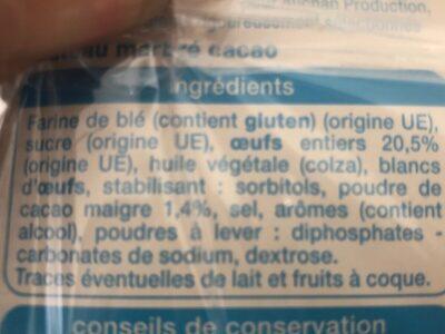 Barre marbrée - Ingrediënten