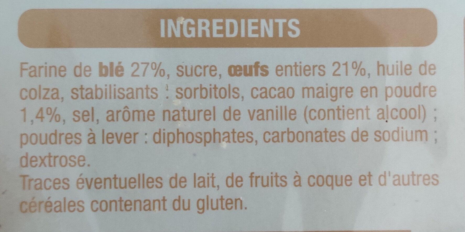 Barre marbrée - Ingrediënten - fr