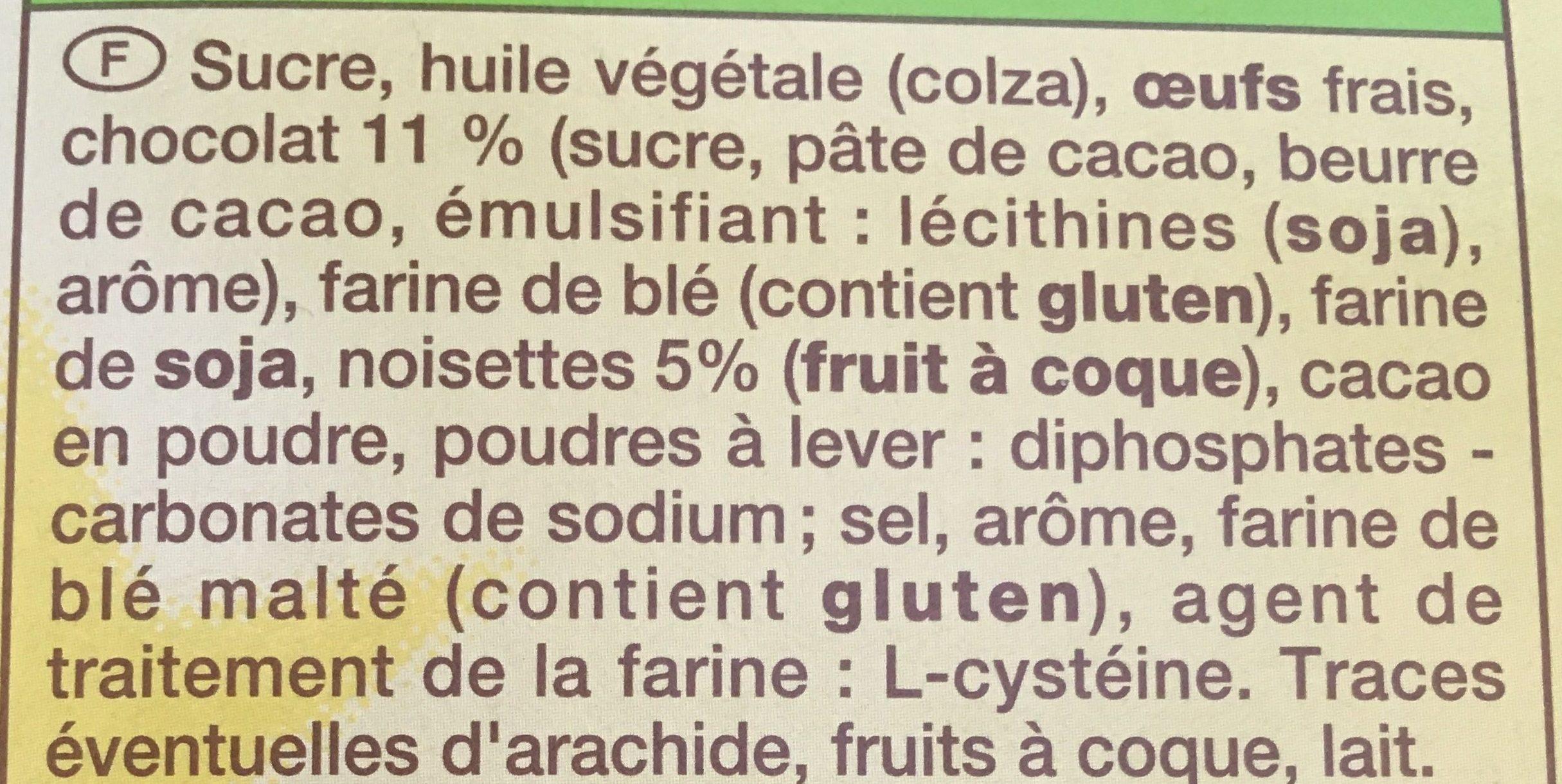 Brownie chocolat noisettes - Ingrédients - fr