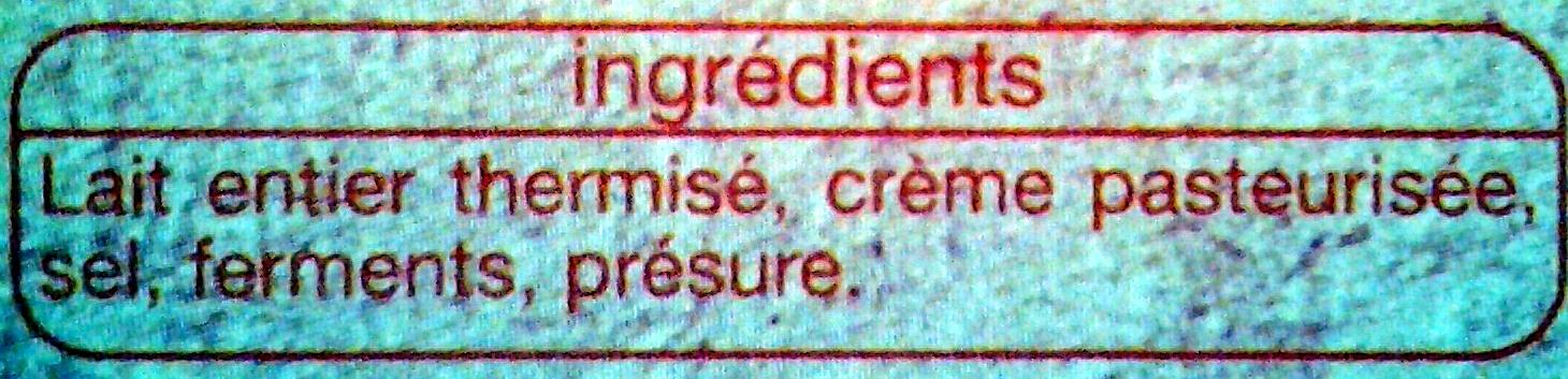 Fromage St Félicien - Ingrédients - fr