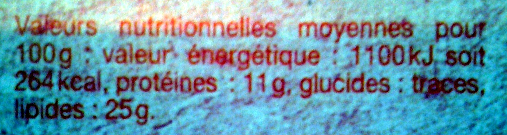 Fromage St Félicien - Informations nutritionnelles - fr
