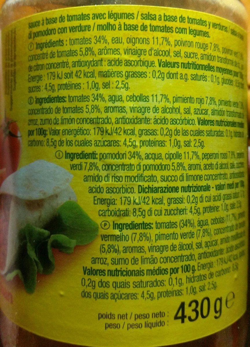 Salsa fajita - Ingrediënten