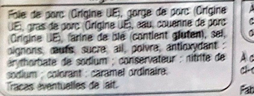 Pate de campagne - Inhaltsstoffe - fr