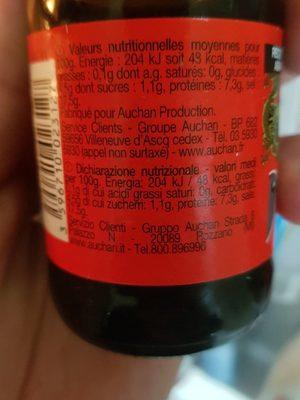 Sauce soja - Valori nutrizionali - fr