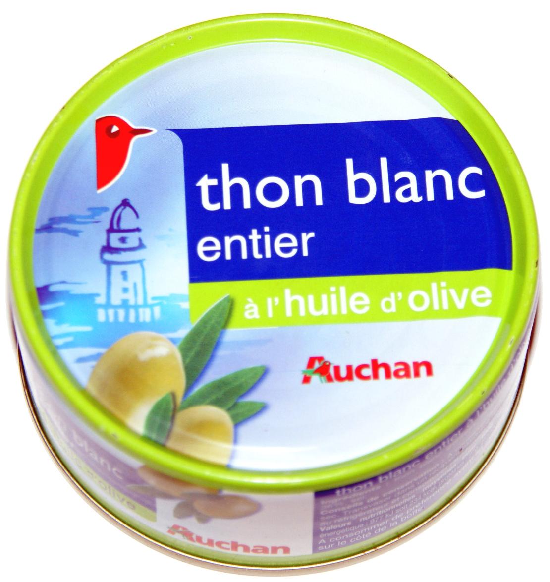 Thon blanc entier à l'huile d'olive - Produit