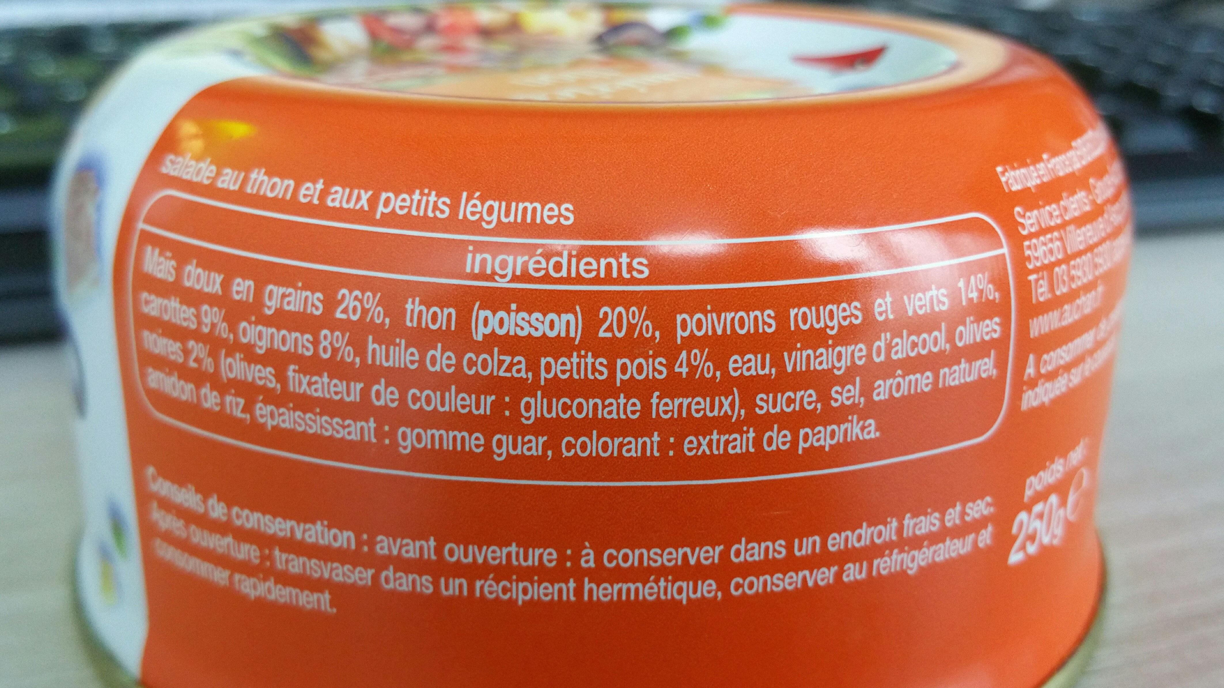 Salade Américaine Au Thon - Ingrédients - fr