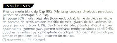 Filet de merlu blanc du cap façon meunière - Ingredients