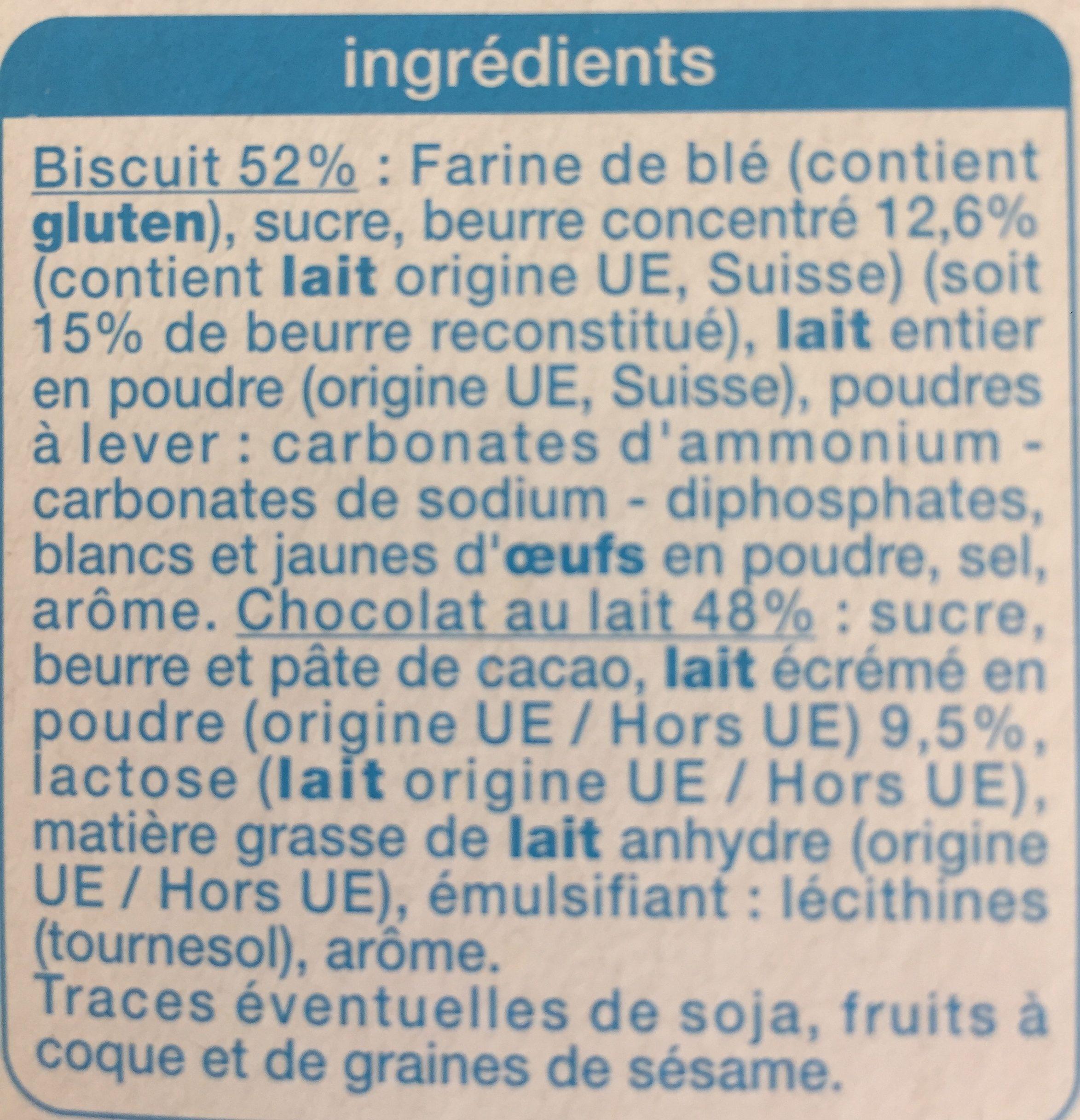 Petit beurre tablette pocket - Ingrédients - fr